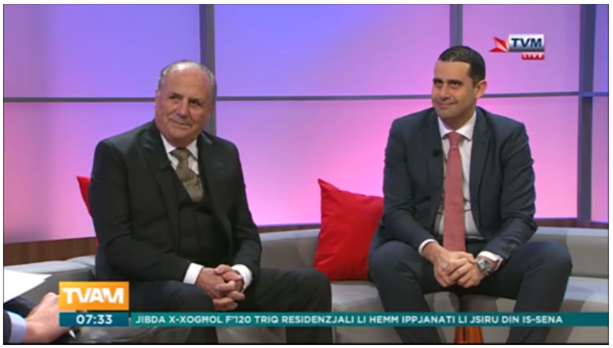Corinthia St George's Project – Interview on TVAM